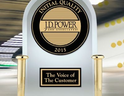 J D Power Initial Quality Award 2015