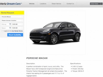 Porsche macan hertz dream car-small