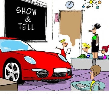 Porsche Cartoon Image