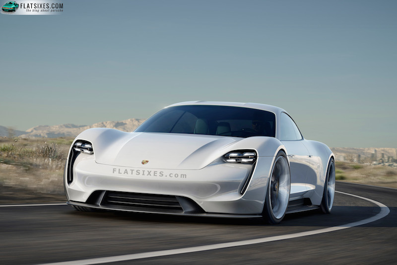 Porsche Mission E all electric sports sedan