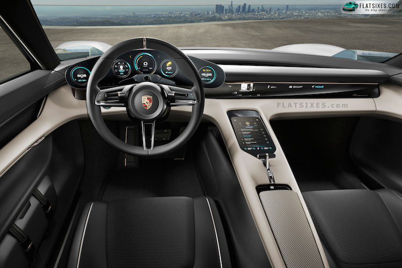 porsche mission e electric car type 717-interior-steering wheel-small