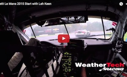 Watch Leh Keen's Rain Dance At The Start Of Petit Le Mans