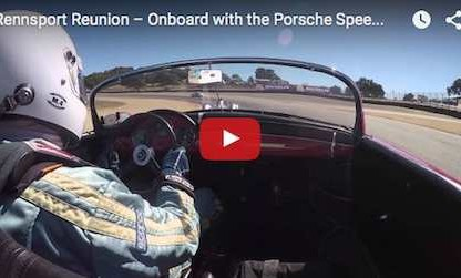 Take A Lap Around Laguna Seca In A Porsche Speedster 356 A During RRV