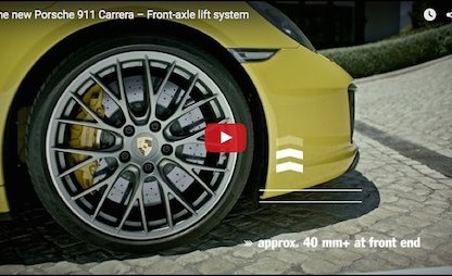 The Front Axle Lift System In The New 911 Explained
