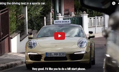 Porsche Substitutes A 911 For These Student's Driving Exam