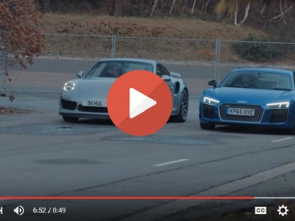 911 Turbo Vs. Audi's New R8 V10 Plus