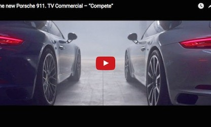 "This Is Porsche's First TV Commercial For The New 911, ""Compete"""