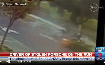 How This Porsche Thief Manages To Get Away After This Crash Is Unbelievable