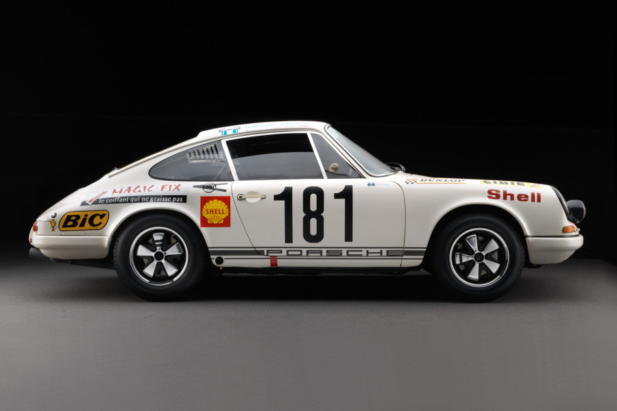 One of only 23 original  1967 Porsche 911 R's produced.  This one is on display at The Revs Institute.