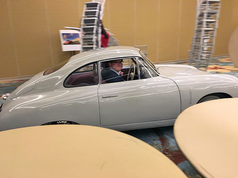 At the end of the dinner, Jeff Zwart drove his Gmünd Coupe out of the ballroom with Porsche's Grant Larson (Director Special Project Style) happily riding shotgun