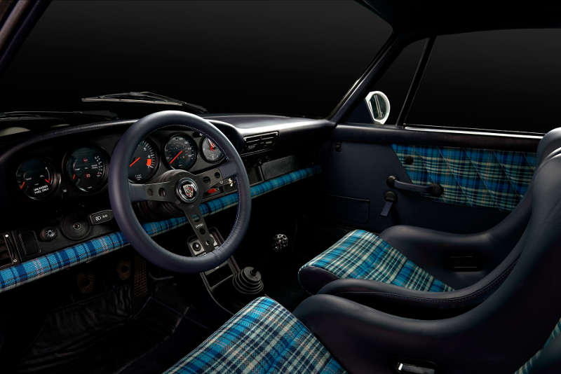 Safari #2 received this incredibly eye catching blue tartan interior.