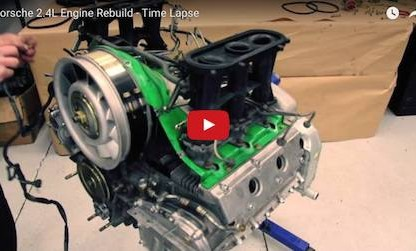 Porsche 2.4L Engine Rebuild Time Lapse Video Is Uniquely Satisfying
