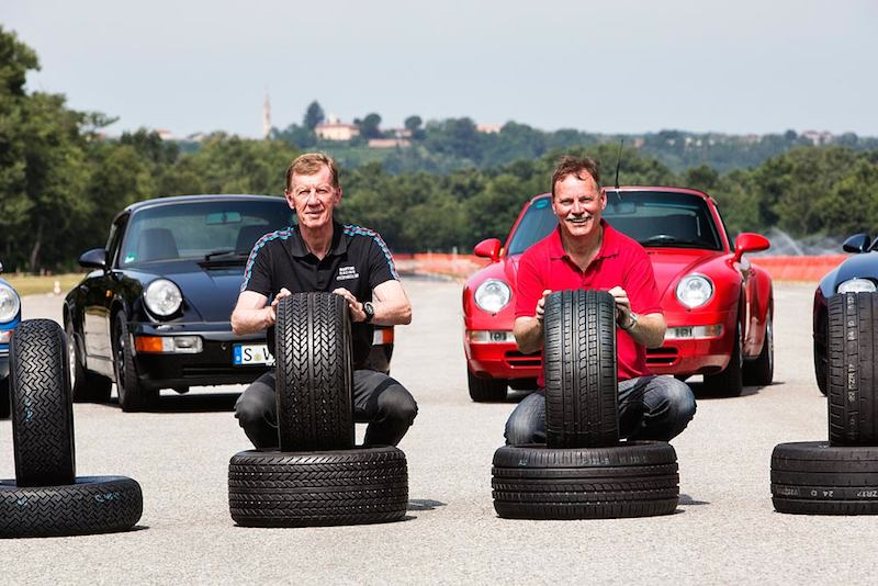 When tuning the tires, the Porsche tire testers worked together with former rally world champion Walter Röhrl, who was able to offer valuable tips on the driving properties of tires based on his extensive background of experience with the historic Porsche models.