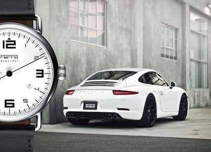 Ferro Watches Launches Single-Handed Porsche Tachometer Inspired Timepiece. Check it out on Kickstarter!