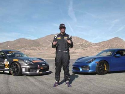 How Does The Porsche Cayman GT4 Compare to The Clubsport Version? Watch as CJ Wilson Explains