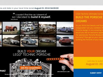 Build the [LEGO] Porsche of Your Dreams & Win A Trip To The Porsche Museum