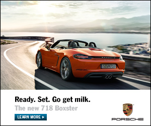 ready set get milk. Porsche 718 Boxster