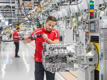 This is Porsche's New V-8 Engine Factory