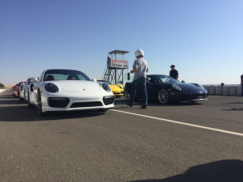 2017 porsche 911 at Thunderhill