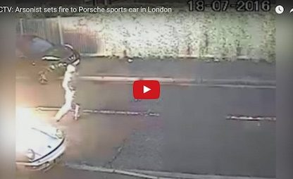 Watch: Video Footage Catches Arsonist Setting 911 On Fire