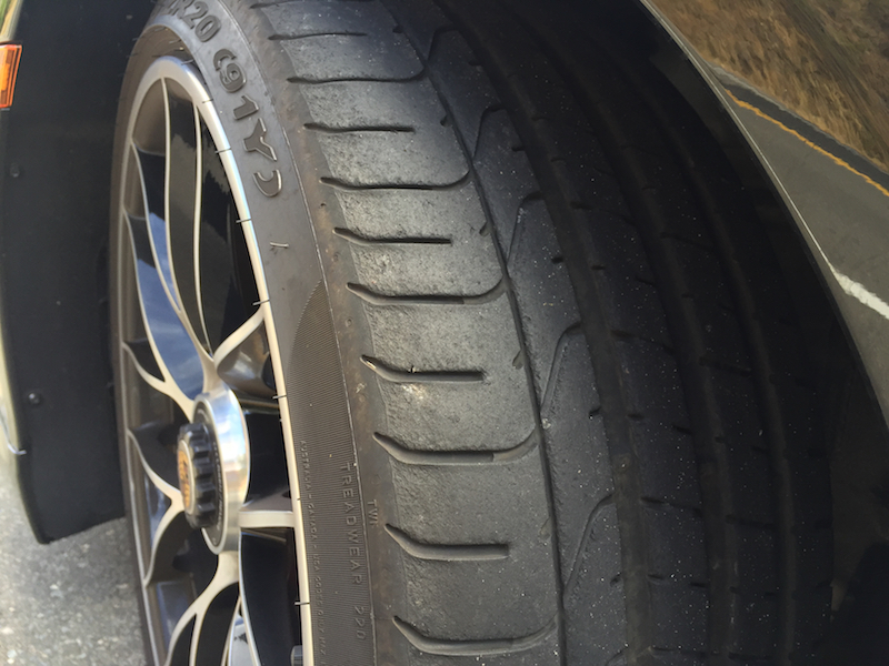 The worn edges of our tires were the only visual evidence of a hard day at the track.