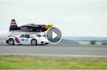 Racing on the X and Y Axis – 918 Spyder Vs. Plane.