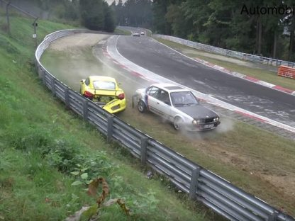 Watch As A Coolant Spill Kills A Cayman GT4 On The Nürburgring