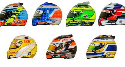 This Is Why The Helmets of These 7 Porsche Factory Drivers Look The Way They Do