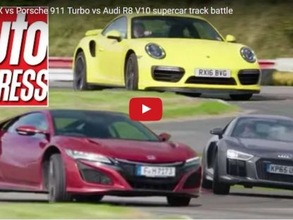 Acura NSX vs. Audi R8 V10 Plus vs. Porsche 911 Turbo