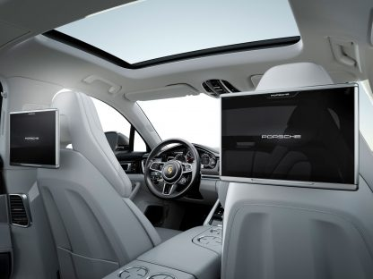 This is Porsche's Updated Rear Seat Entertainment Option