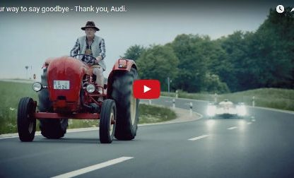 Porsche's Classy goodbye to Their Rivals at Audi