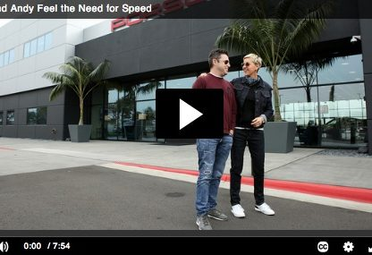 Ellen DeGeneres Tortures Her Producer at the Porsche Experience Center, LA