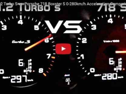 Porsche 991.2 Turbo S vs. Porsche 718 Boxster S Acceleration Comparison
