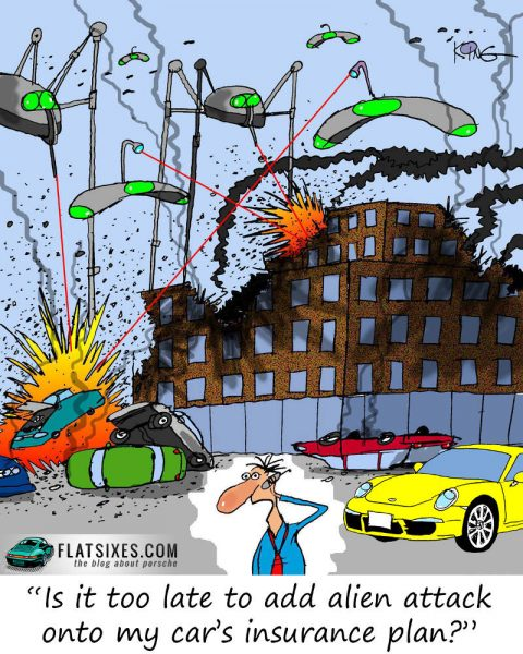 porsche cartoon insurance coverage