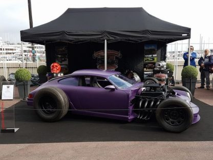 Purple Porsche 964 Rat Rod Gets Chopped, Stretched and V8 Power