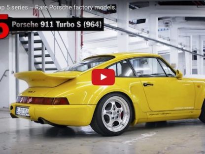 A Quick Glimpse at 5 of Porsche's Rarest Factory Models