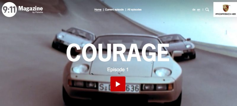 SCREEN SHOT OF PORSCHE'S 9:11 MAGAZINE EPISODE 1