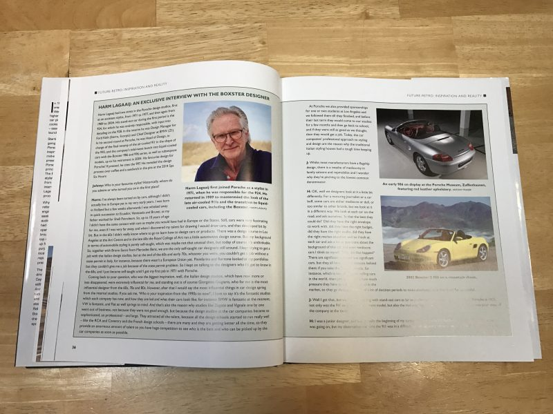 interview with Harm Lagaaij inside Porsche Boxster and Cayman The Complete Story