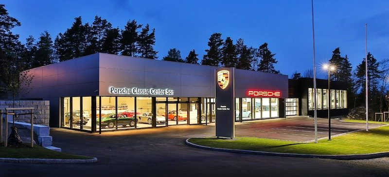 new Porsche Classic Center in Norway
