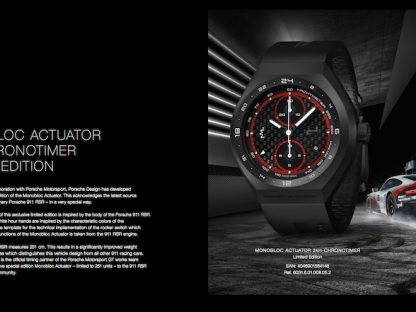 Porsche Design's Monobloc Actuator Watch Puts Racing Tech on Your Wrist