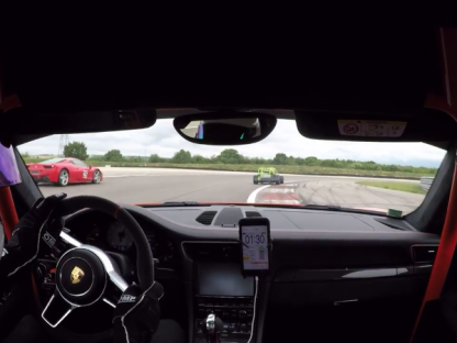 991 GT3 RS Duels With Caterham at Dijon