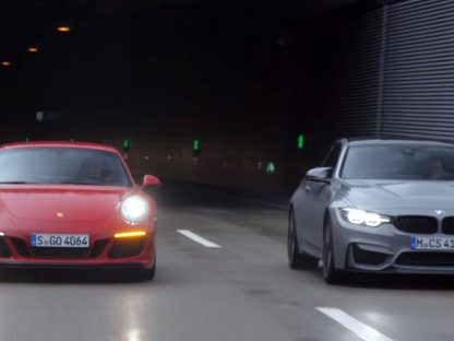 Video: Motor Trend Pits Porsche's 911 GTS Against BMW's M4 CS