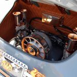 engine of outlaw Porsche 356 at SEMA 2017