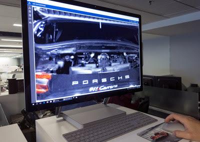 The image seen at the Porsche technical center