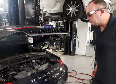 Porsche's Outfitting Their Techs with Smart Glasses to Help Fix Customers' Cars