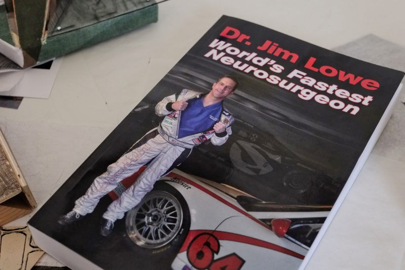 cover of dr. jim lowe's the world's fastest neurosurgeon