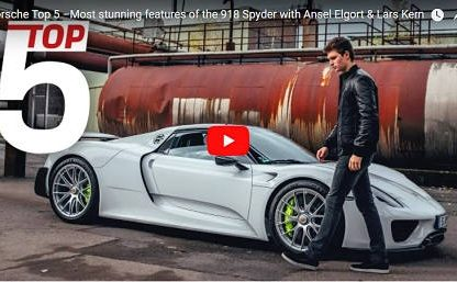 Top 5 Features of the 918 Spyder with Baby Driver's Ansel Elgort