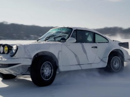 Frozen Lake Running With The Supercharged Kelly Moss Porsche Safari 4