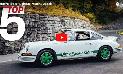 Porsche Says These Are Their 5 Lightest Models, Kind of…