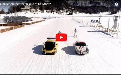 Skijoring with Porsches is a Beautiful Thing